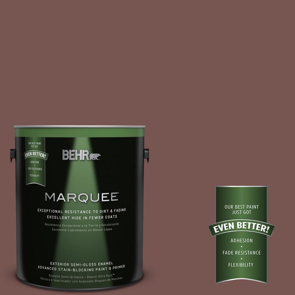 BEHR MARQUEE 1-gal. #700B-6 Sequoia Dusk Semi-Gloss Enamel Exterior Paint