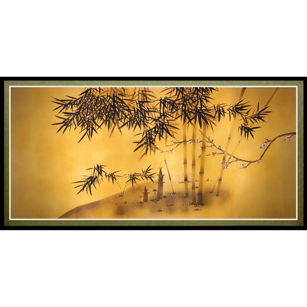"Oriental Furniture 18 in. x 35 in. ""Bamboo Tree"" Canvas Wall Art"