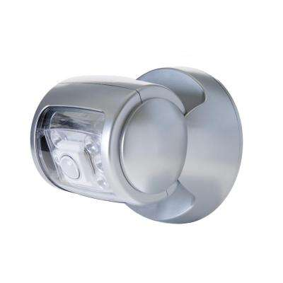 Silver Motion Activated Integrated LED Deck light