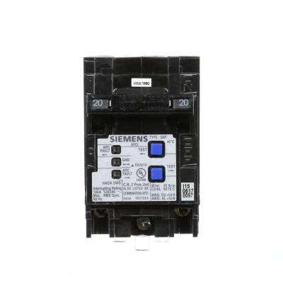 Type QAF 20 Amp Double-Pole Combination AFCI Circuit Breaker