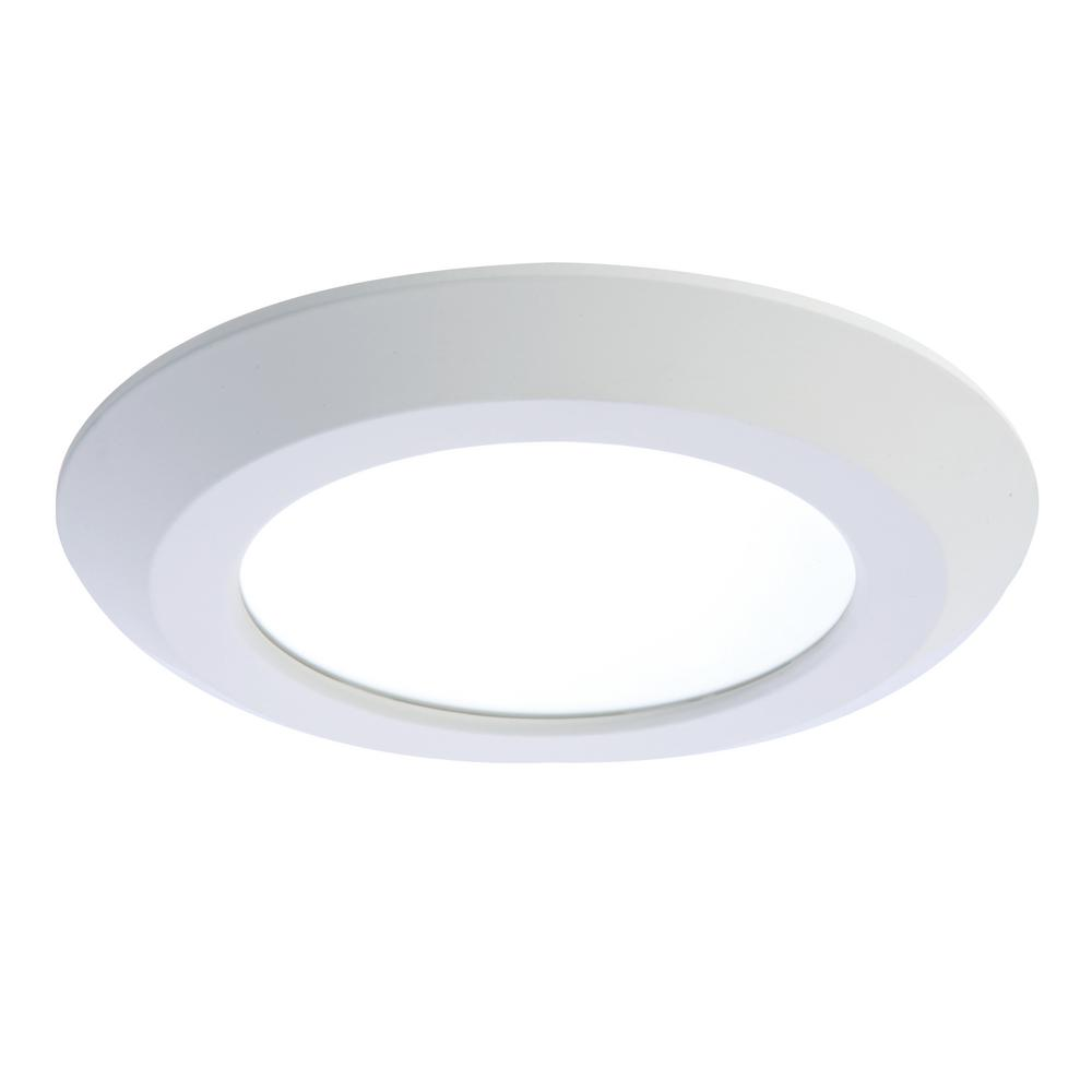ceiling mount light fixture. White Integrated LED Recessed Retrofit Ceiling Mount Light Fixture F