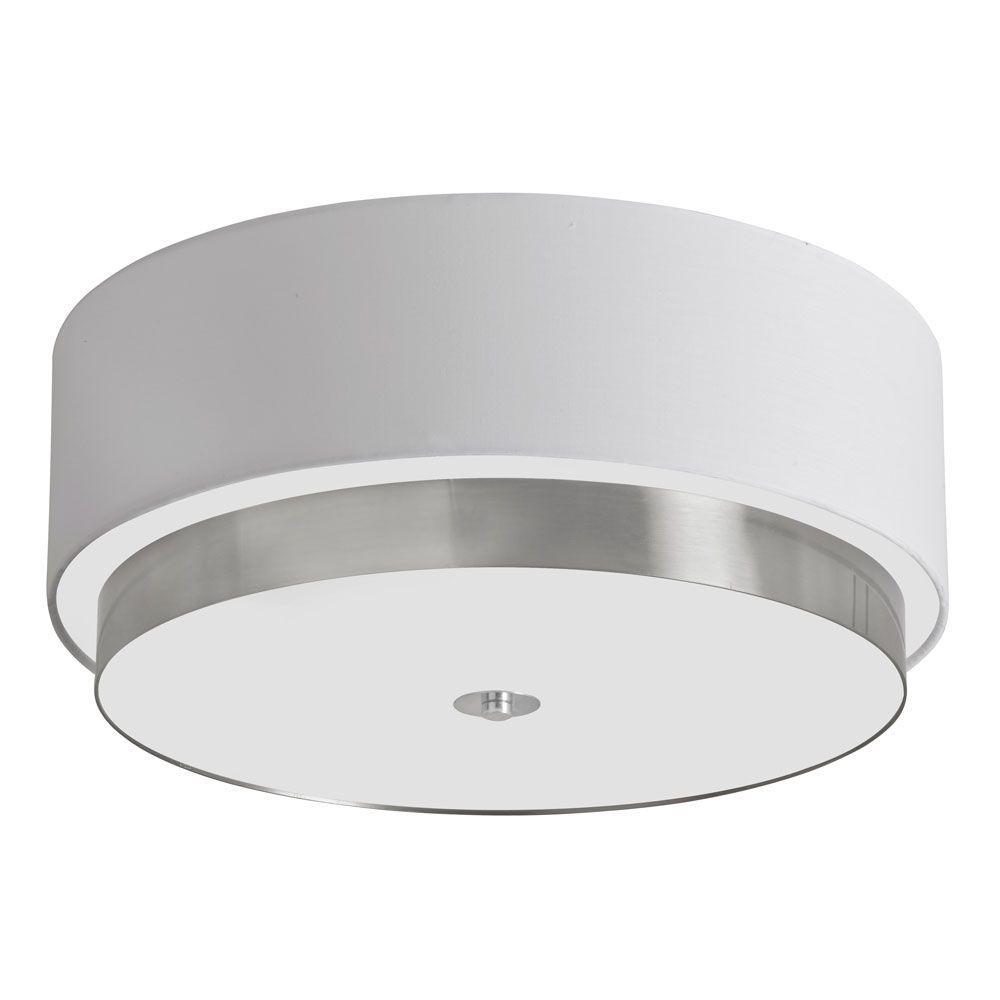 Larkin 4-Light White Flush Mount