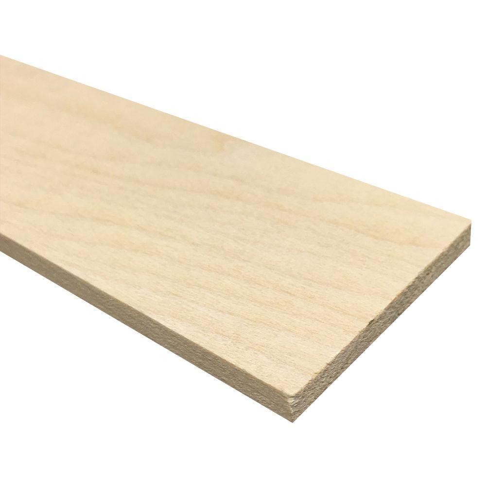 1/4 in. x 3 in. x 4 ft. Hobby Boards Kiln Dried S4S Poplar Board (40-Piece)