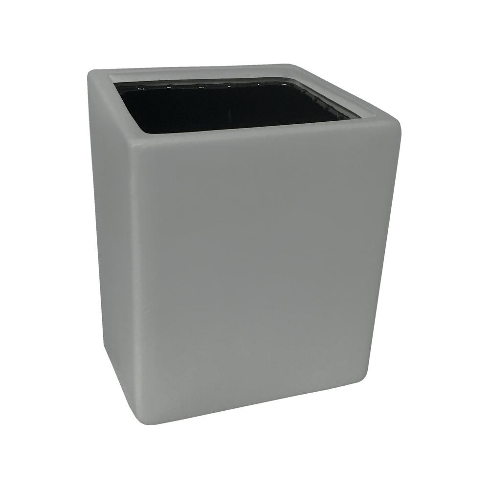 Cube 3 1/2 in. x 4 in. Light Grey Ceramic Wall