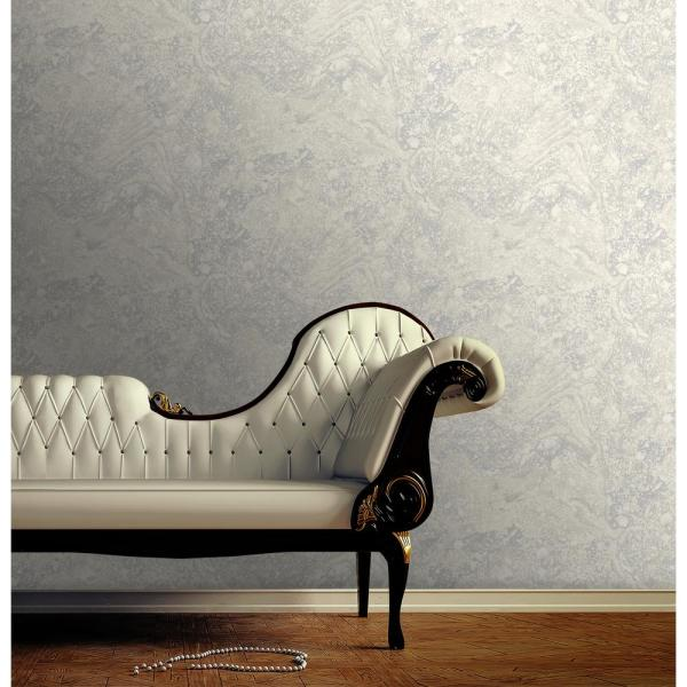 Duck Egg Floral Wallpaper Cream Photo Frames Writing Silver Metallics
