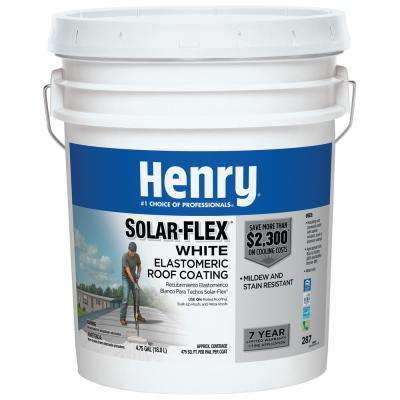 4.75 Gal. 287 Solar-Flex White Elastomeric Roof Coating