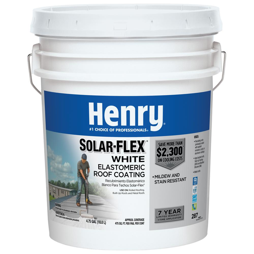 Henry 4 75 Gal  287 Solar-Flex White Elastomeric Roof Coating