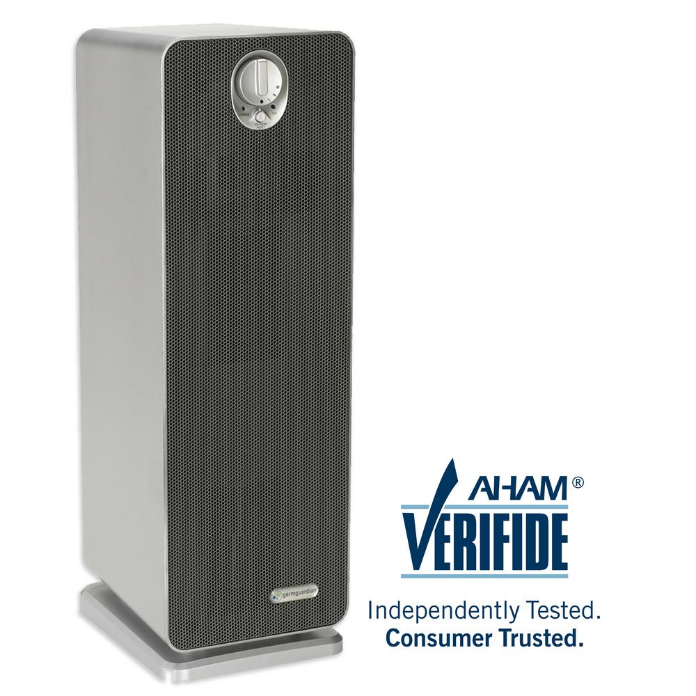 GermGuardian 3-in-1 True HEPA Air Purifier with UV Sanitizer and Odor Reduction, 22 in. Tower