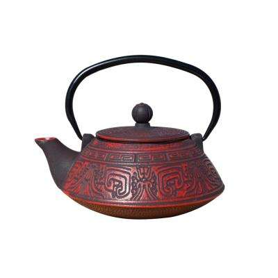 Kodai 3.5-Cup Teapot in Red and Black