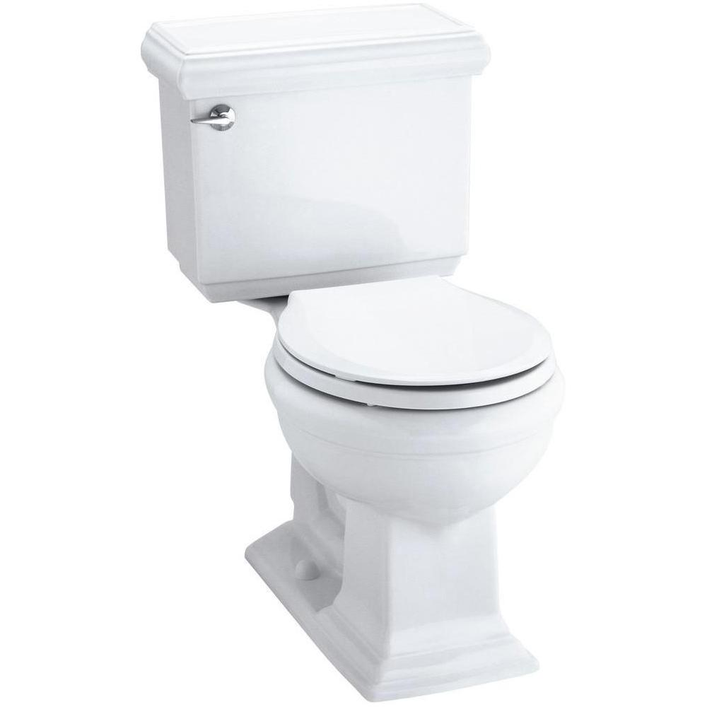 Kohler Memoirs Clic 2 Piece 1 28 Gpf Single Flush Round Toilet With Aquapiston Flushing Technology In White