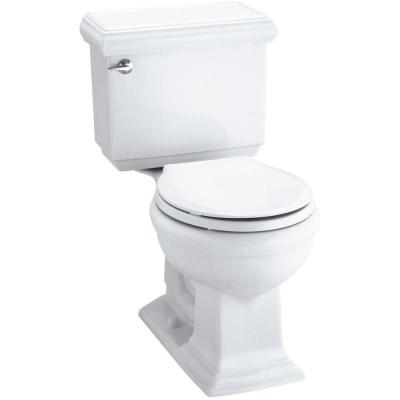 Memoirs Classic 2-Piece 1.28 GPF Single Flush Round Toilet with AquaPiston Flushing Technology in White