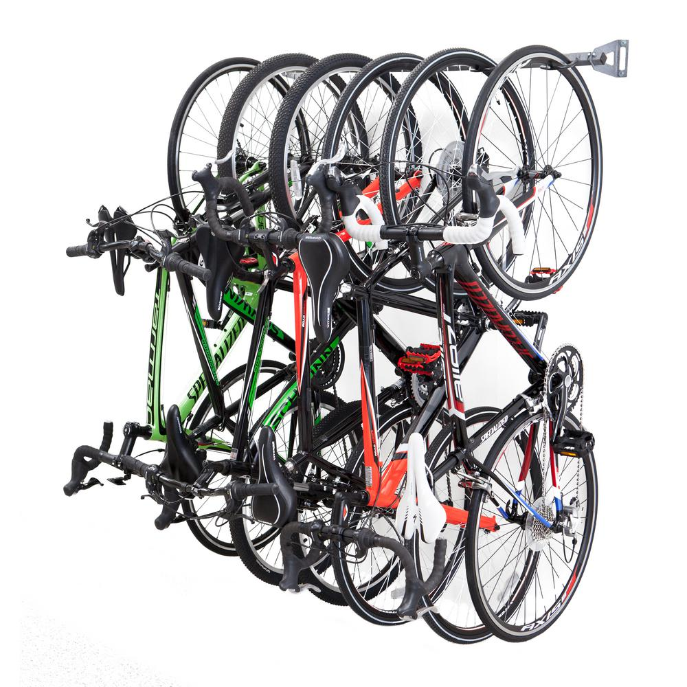 Monkey Bars 51 In 6 Bike Storage Rack 01006 The Home Depot