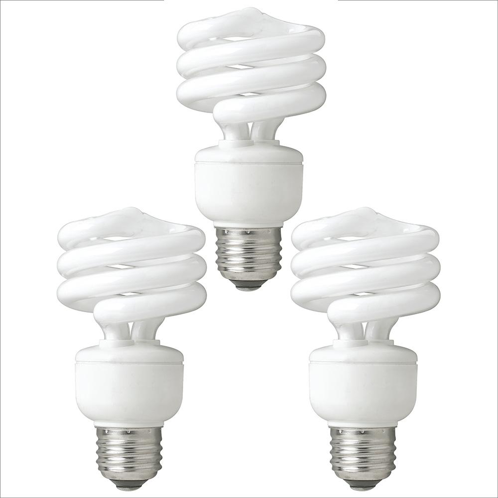 Tcp 40 Watt Equivalent Daylight Spiral Non Dimmable Cfl Light Bulb 3 Pack 78909dl3 The Home