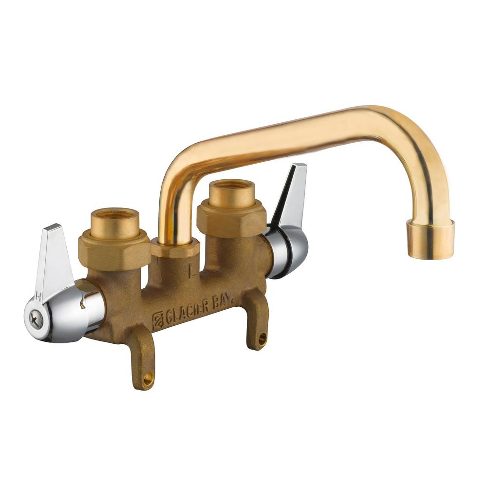 Glacier Bay 2-Handle Laundry Faucet in Rough Brass-4211N-0001 - The ...