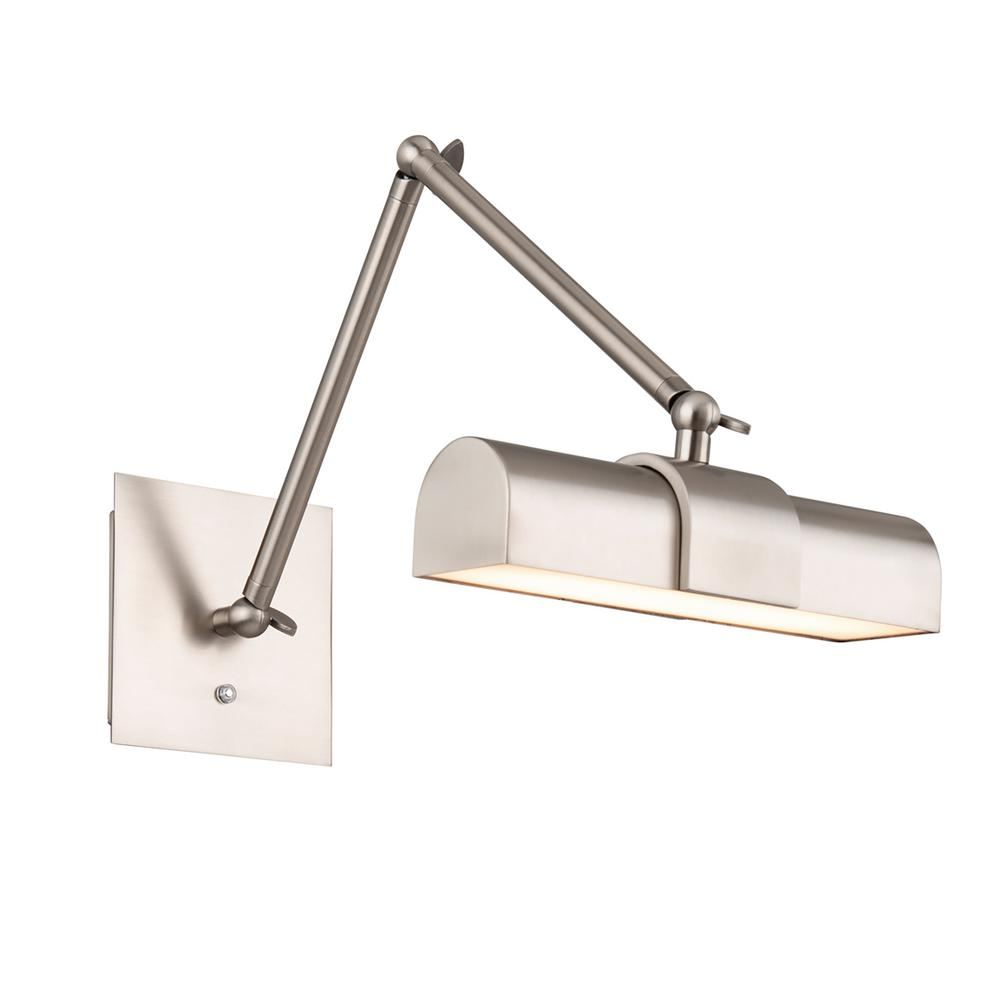 Piano 23 in. Brushed Nickel LED Adjustable Picture Light, 3000K