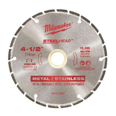 4-1/2 in. Steel Head Diamond Cut Off Blade