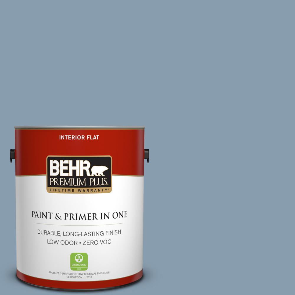 BEHR Premium Plus 1-gal. #BNC-08 Sonata Blue Flat Interior Paint