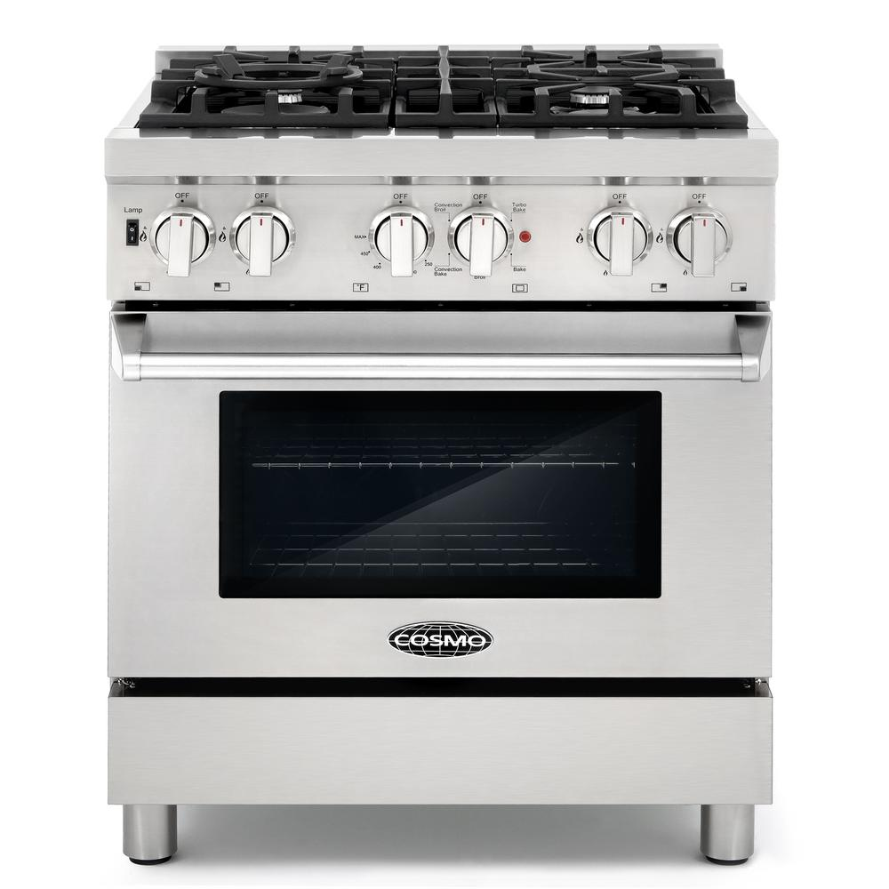 Dual Fuel Range With 4 Italian Burners Cast Iron Grates And Function Electric Oven