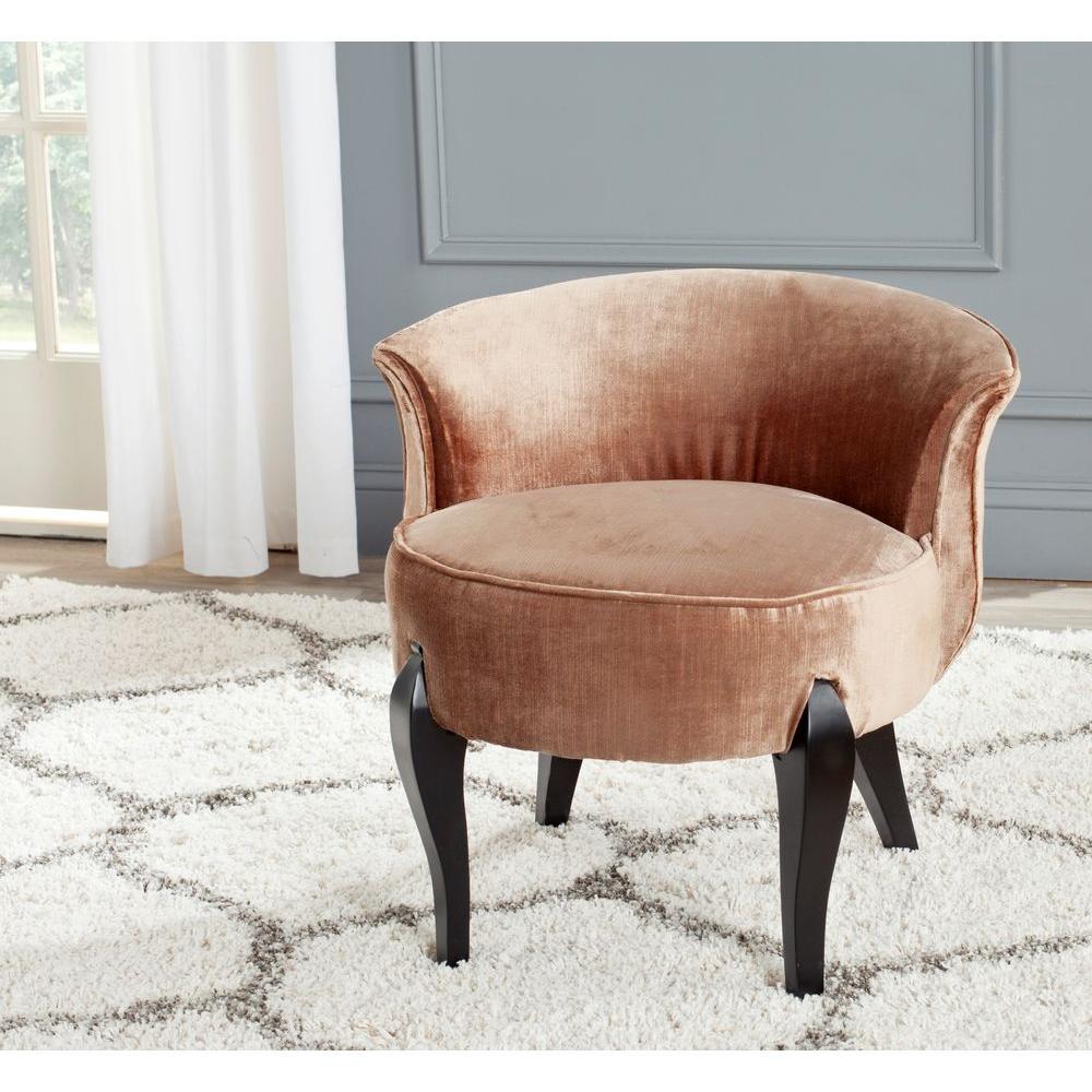 Safavieh mora mink brown cotton viscose vanity chair