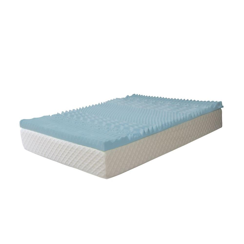 serenia sleep 3 in. queen gel memory foam 7-zone mattress pad-hd