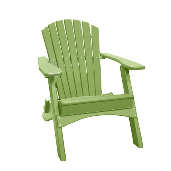 Lime Green Folding Recycled Poly-Lumber Adirondack Chair
