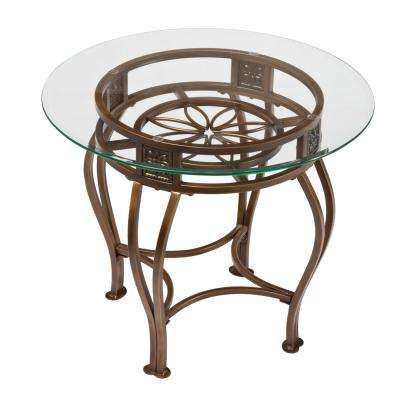 Scottsdale Brown Rust End Table