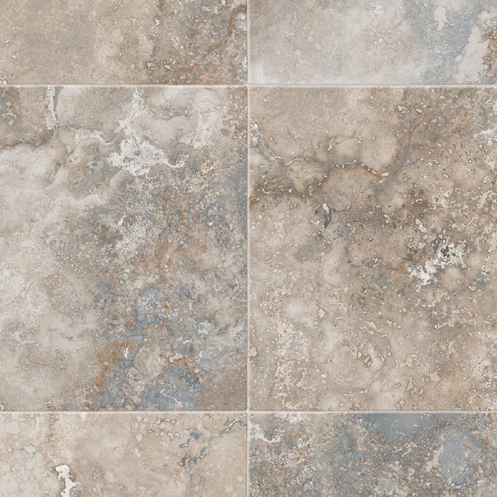 Kara Medium Grey 13.2 ft. Wide x Your Choice Length Residential Sheet Vinyl Flooring