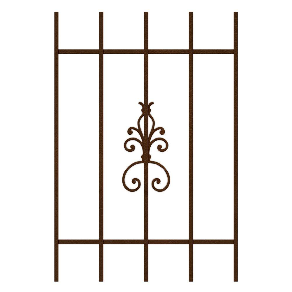 Unique Home Designs El Dorado 24 in. x 36 in. Copper 5-Bar Window Guard-DISCONTINUED