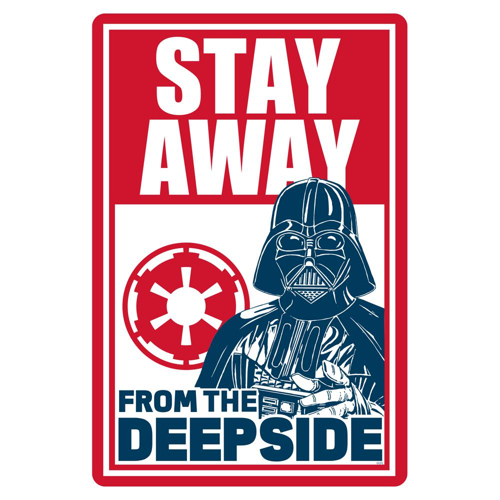 Blue Wave 12 in  x 18 in  Star Wars Darth Vader Pool Sign