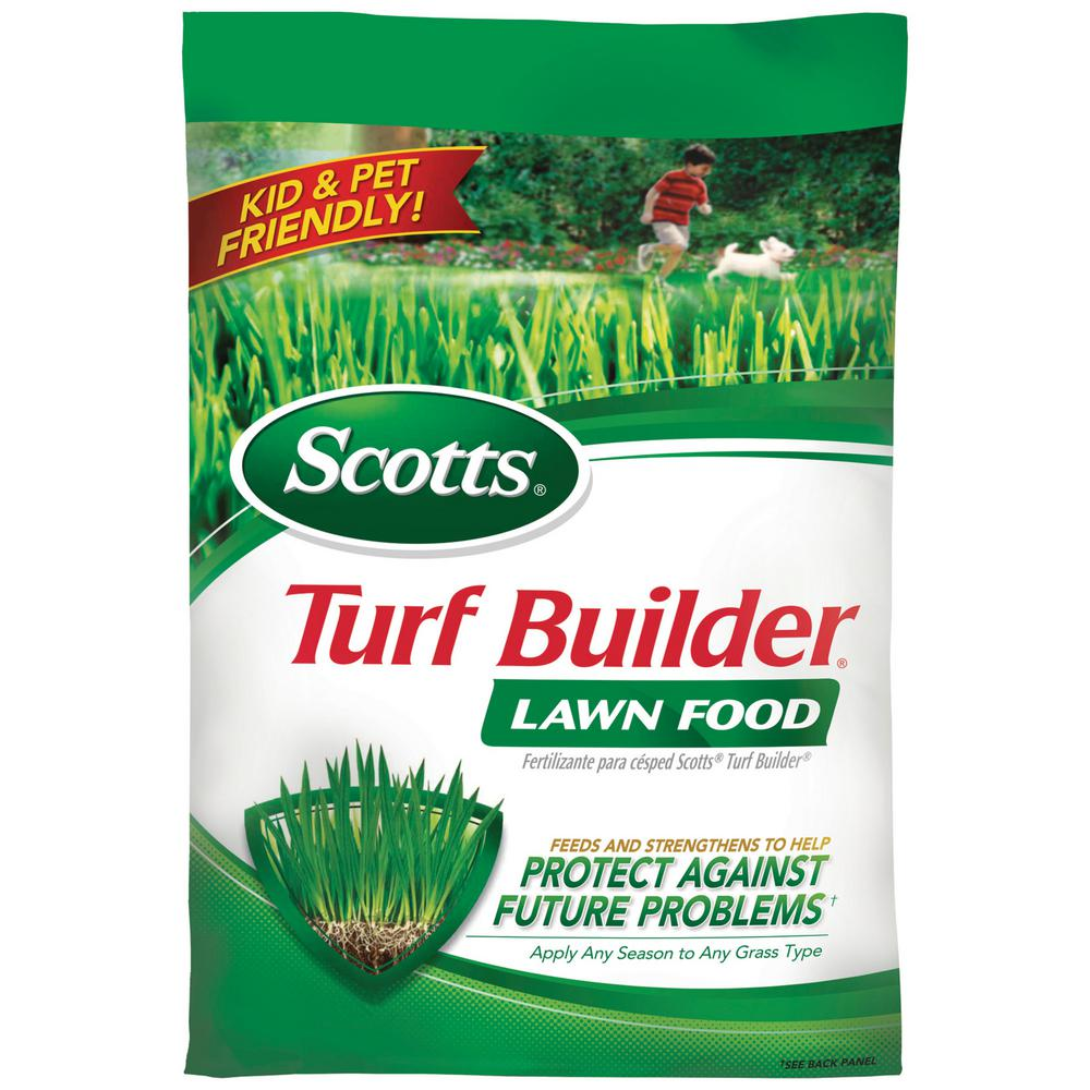 scotts 12 6 lb 5 000 sq ft turf builder lawn food 22305 the