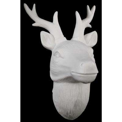 10.75 in. H Head Decorative Sculpture in White Matte Finish