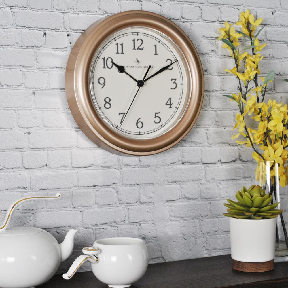 8.5 in. Round Champagne Essential Wall Clock
