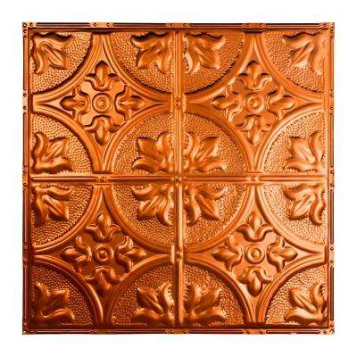 Jamestown 2 ft. x 2 ft. Nail-Up Tin Ceiling Tile in Copper