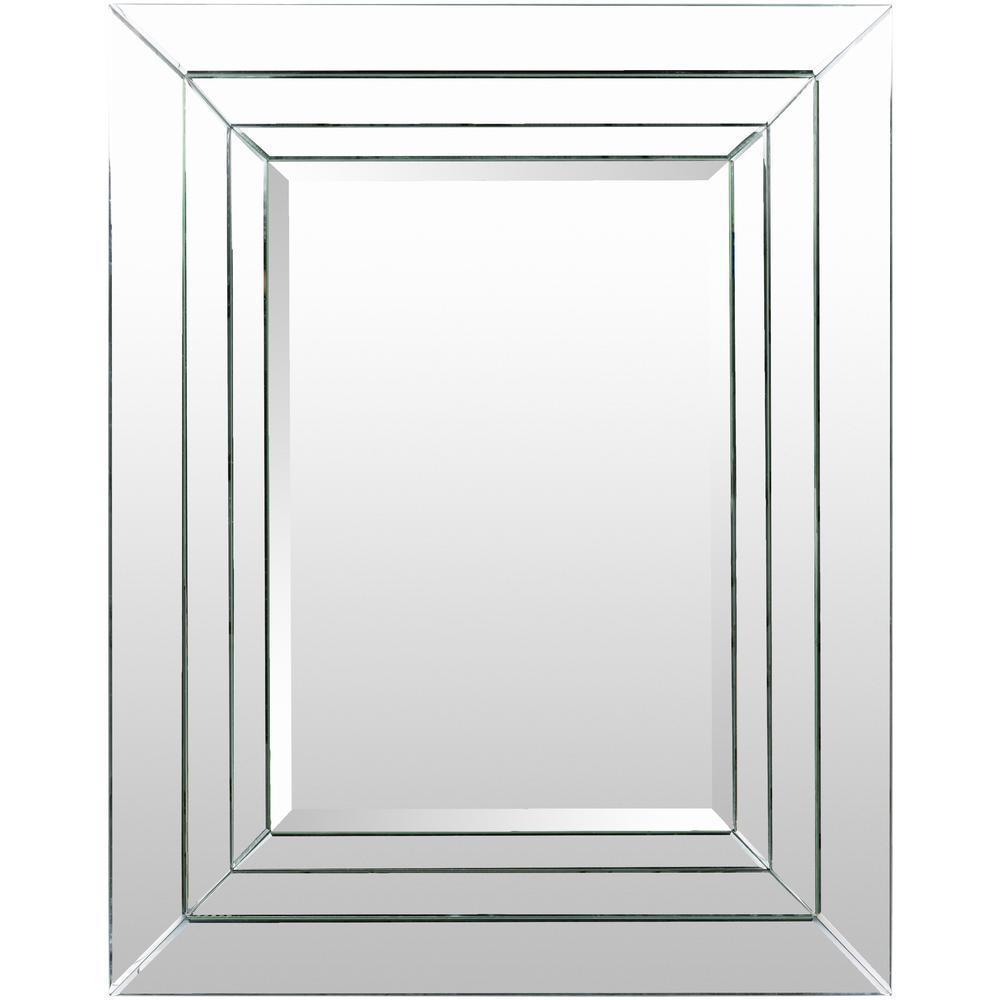 Mensur 38 in. x 48 in. Glam Framed Mirror