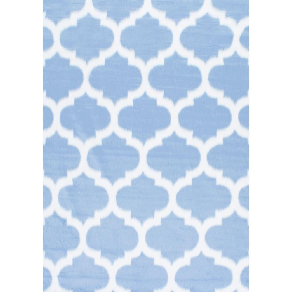 nuLOOM Faux Sheepskin Shaunna Blue 5 ft. x 7 ft. Area Rug