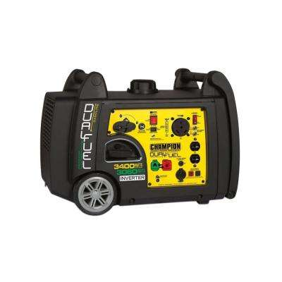 3,400-Watt Dual Fuel Push-Button Electric Start Portable Inverter Generator with Parallel Capability