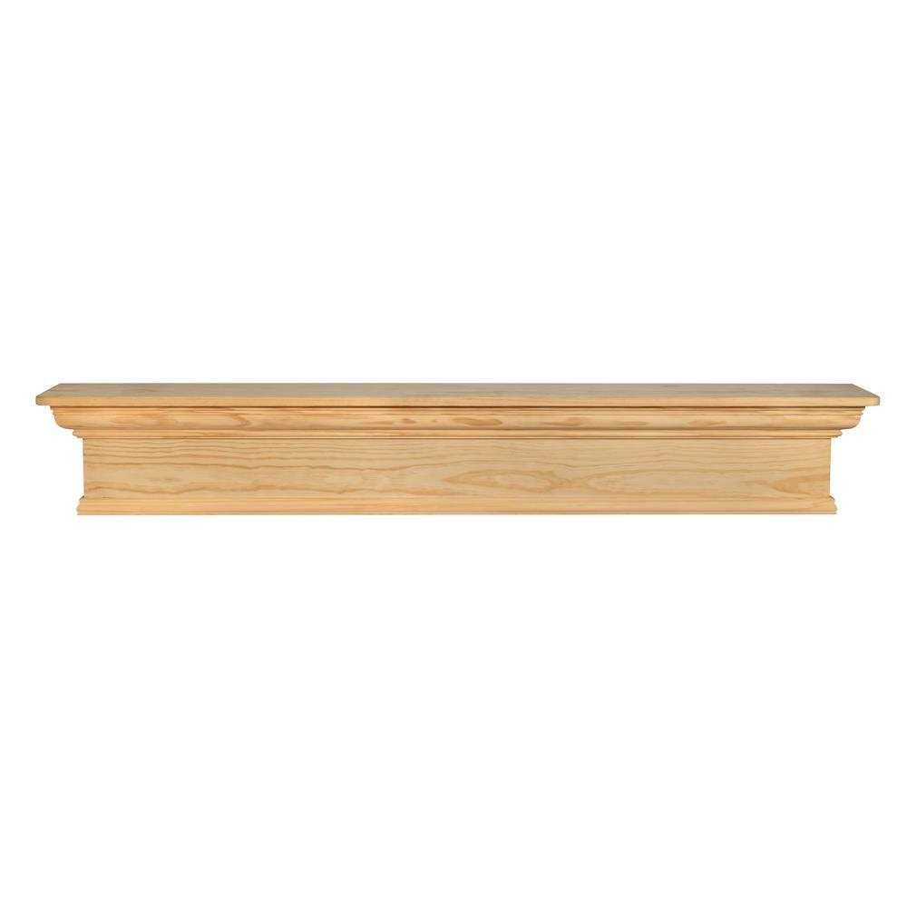 Pearl Mantels Savannah 72 in. x 9 in. Unfinished Cap-Shelf Mantel
