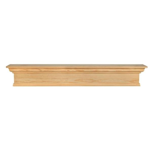 Savannah 60 in. x 9 in. Unfinished Cap-Shelf Mantel