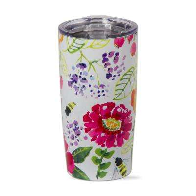 Fresh Flowers 18 oz. Stainless Steel Tumbler