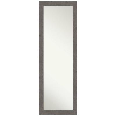 Large Rectangle Distressed Grey Modern Mirror (51.25 in. H x 17.25 in. W)