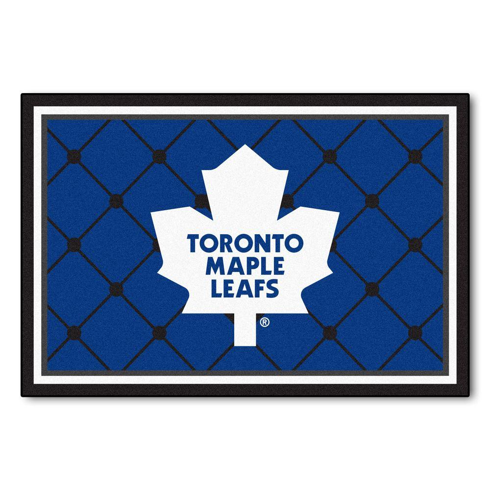Fanmats Nhl Toronto Maple Leafs Blue 5 Ft X 8 Ft Indoor