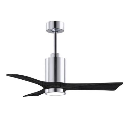 Patricia-3 42 in. Integrated LED Polished Chrome Ceiling Fan with Light Kit