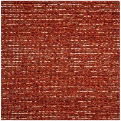 Bohemian Rust/Multi 6 ft. x 6 ft. Square Area Rug