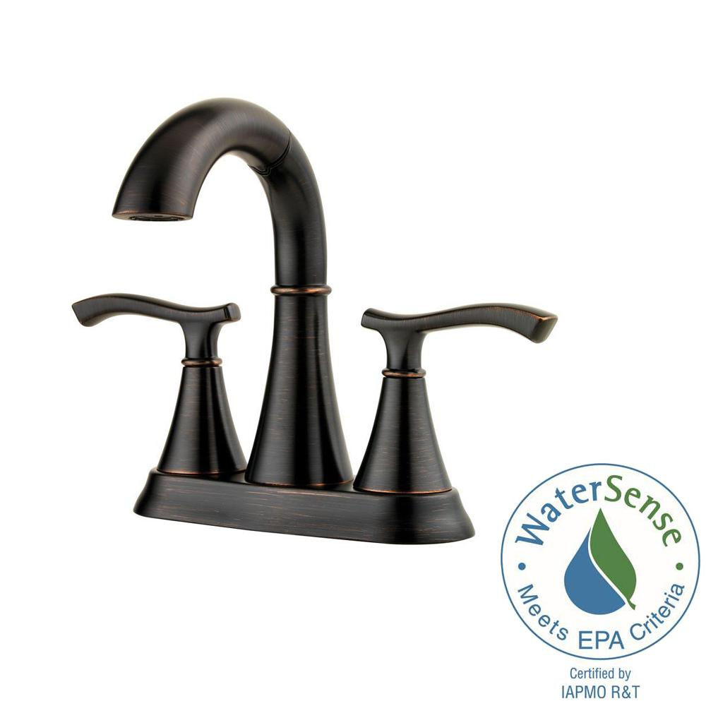 Pfister Ideal 4 in. Centerset 2-Handle Bathroom Faucet in Tuscan Bronze