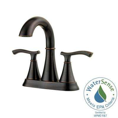 Ideal 4 in. Centerset 2-Handle Bathroom Faucet in Tuscan Bronze
