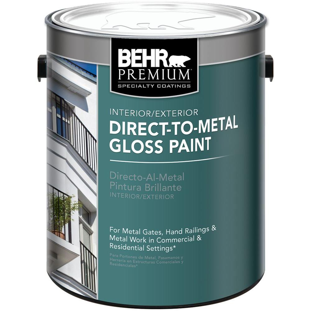 Behr Exterior Paint Home Depot behr premium 1 gal. black gloss direct to metal interior/exterior