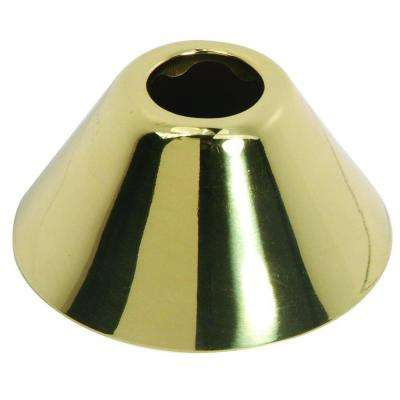 11/16 in. O.D. (3/8 in. IPS) Bell Escutcheon in Polished Brass