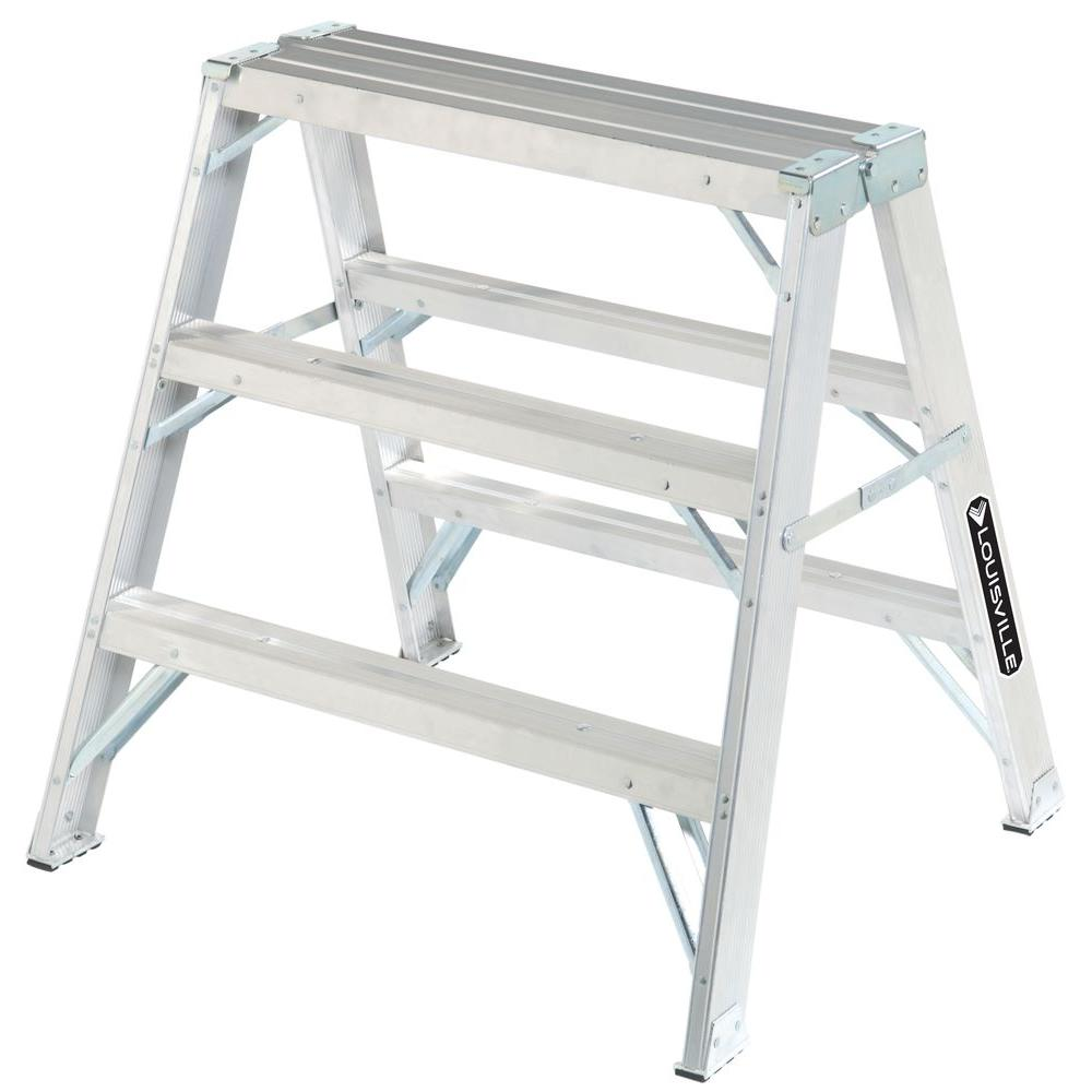 Louisville Ladder 3 Ft Aluminum Twin Step Ladder With 300