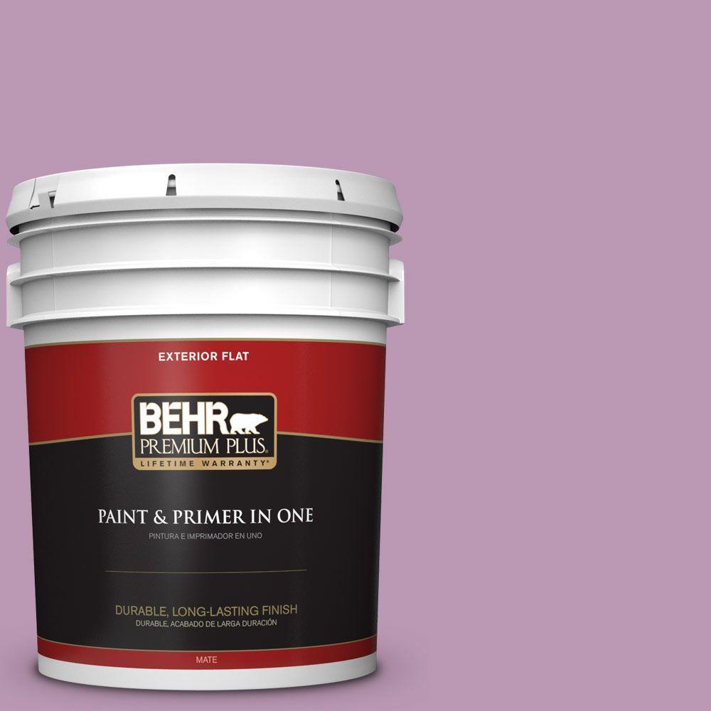 BEHR Premium Plus 5-gal. #M110-4 Cherished Flat Exterior Paint