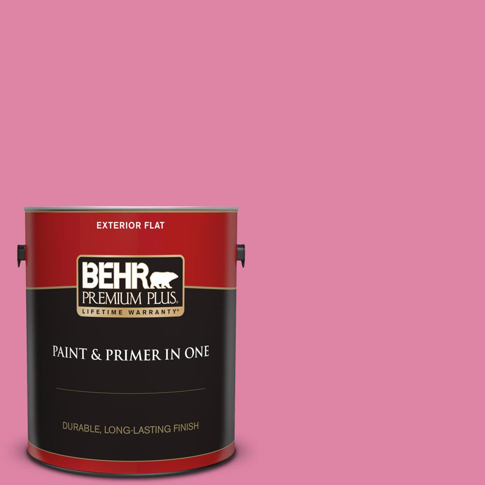 Behr Premium Plus 1 Gal Home Decorators Collection Hdc Md 10a Sweet Chrysanthemum Flat Exterior Paint Primer 440001 The Home Depot